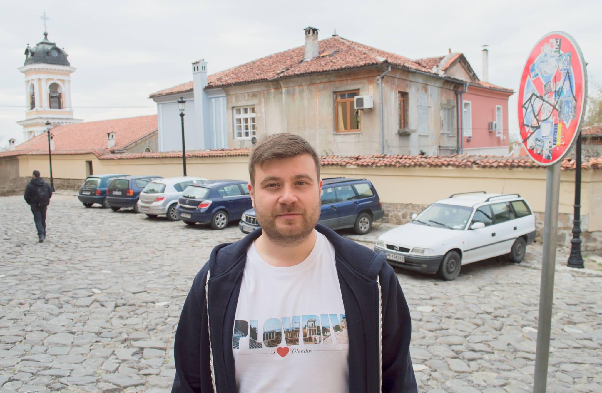 Любомир Чакъров в инициативата за Ограничаване достъпа на автомобили в Старинен Пловдив