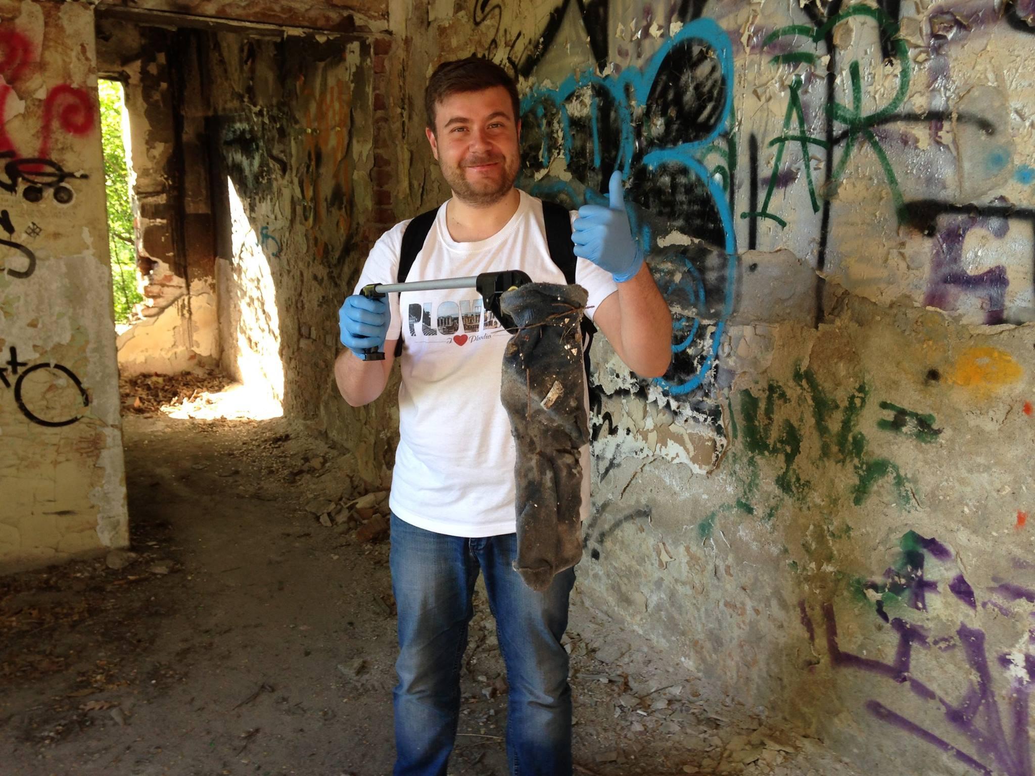 Любомир Чакъров в инициативата по почистването на Бунарджика