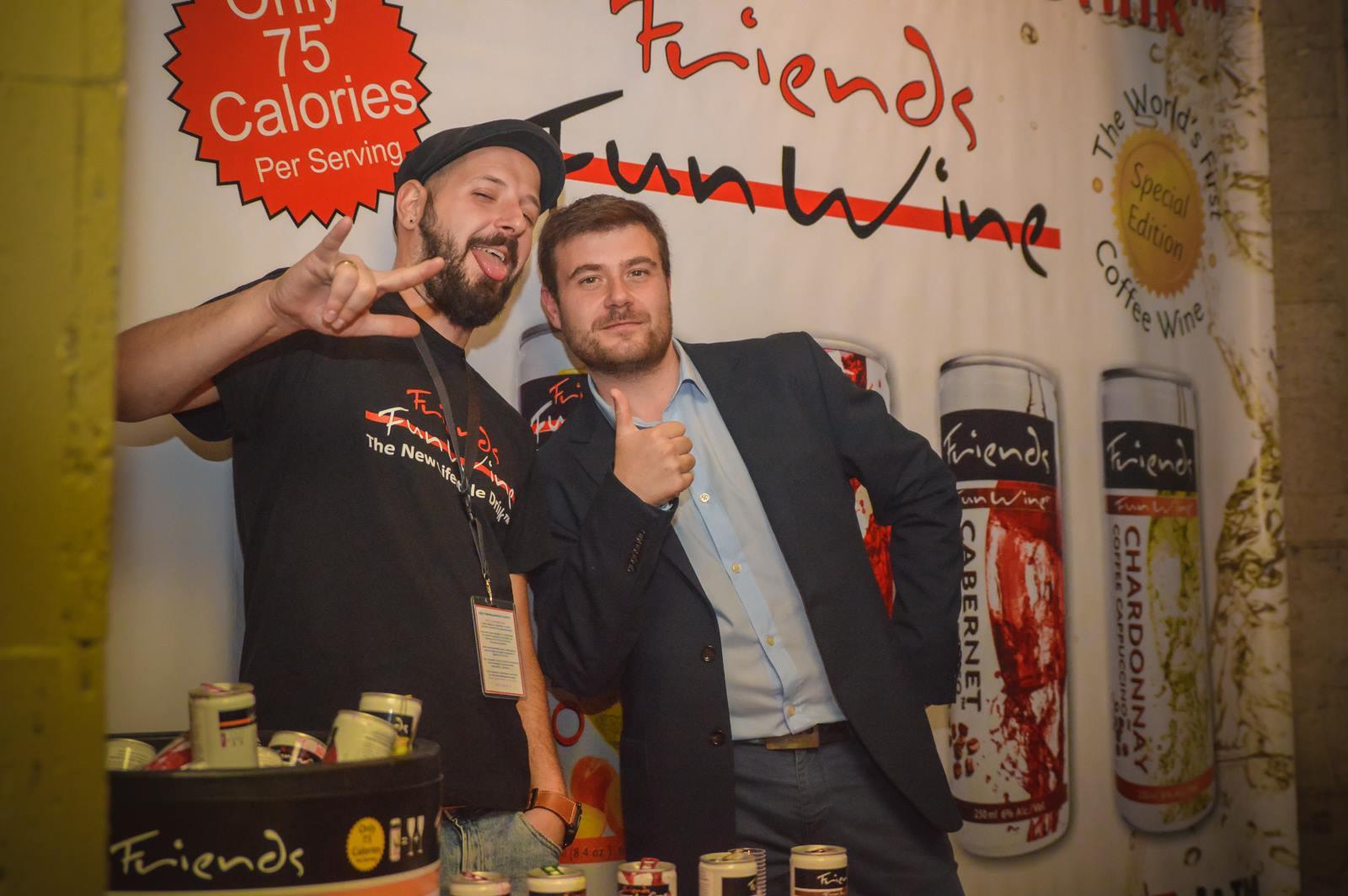 Любомир Чакъров и Стефан Иванов на промо събитието на Fun Wine Bulgaria