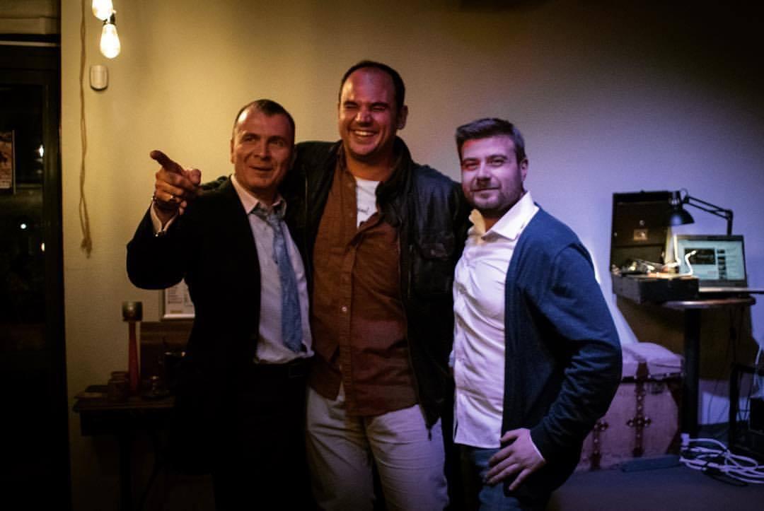 Любомир Чакъров с Иван Богоев и Симеон Владов във Vintage House