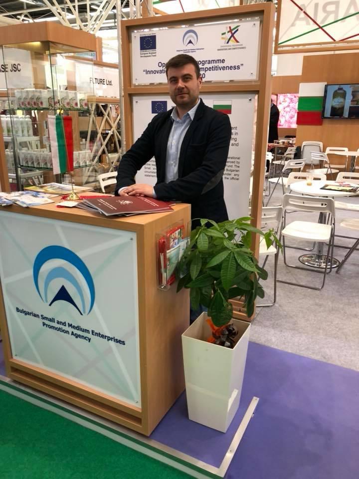 Любомир Чакъров на изложението Cosmoprof WorldWide в Болония